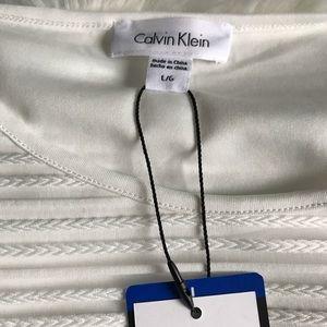 Calvin Klein Tops - New White Calvin Klein Sheer Sleeve Blouse